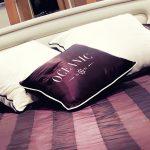 purple yacht cushion