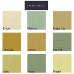 yacht cushion Fabric Colour Swatches